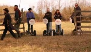Segways on a Gettysburg tour
