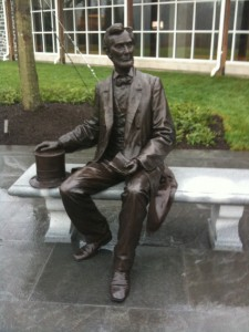 The new Lincoln statue at the Visitor's Center