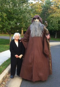 Bob's wizard costume alongside the talented seamstress, Lissa Soergel (Mom).  Bob is the one on the right  :-)