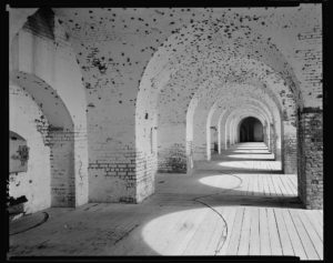 Casemates at Fort Pulaski