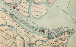 Map of Fort Pulaski and Tybee Island